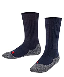 Falke Unisex Kinder Socken, Active Warm K SO -10450, Blau (Marine 6120), 31-34
