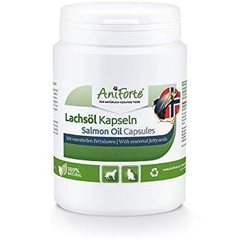 💚 PRODUIT NATUREL : Nos capsules d'huile de saumon AniForte fournissent les acides gras essentiels oméga-3 et oméga-6, l'acide eicosapentaénoïque (EPA) et l'acide docosahexaénoïque (DHA), pour couvrir les besoins quotidiens. C'est un aliment compléme...