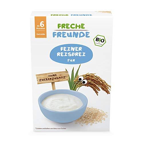 Freche Freunde Bio Feiner Reisbrei, 100% Reis, Getreidebrei für Babys ab 6 Monaten, glutenfrei, vegan, 10er Pack (10 x 140 g)