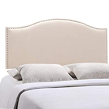 Upholstered Headboard Linen Button-Tufted Adjustable Headboards Queen Size