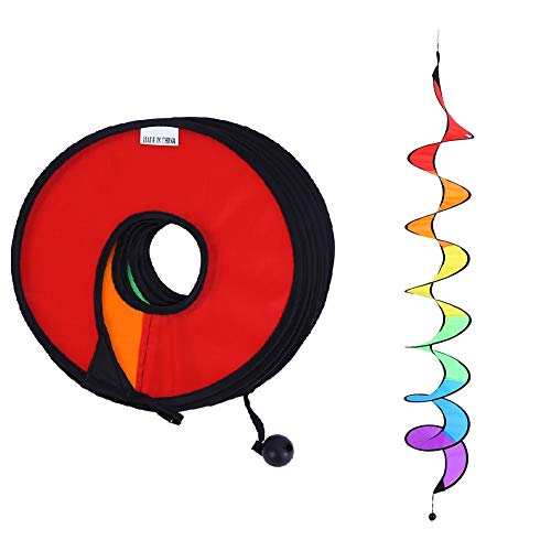 Haofy Spiral Windmühle, 1 Piece Rainbow Spiral Windmill Bunter Wind Spinner Garten Home Party Yard Zelt Camp Dekorationen im Freien Spielzeug