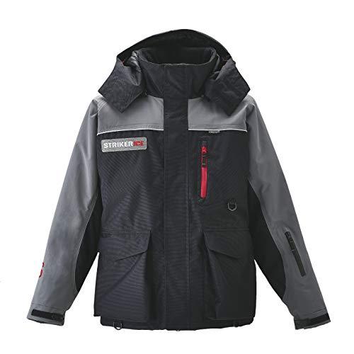 Striker Ice Men's Trekker Ice Fishing Flotation Jacket (Gray/Black, X-Large)