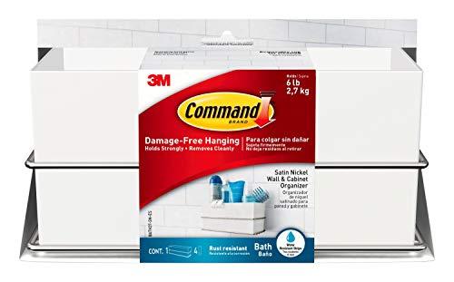 Command Cesto Organizador Mixto, Metal, Blanco, 24.13x11.77x11.77 cm