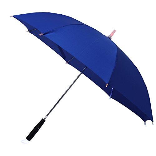 LED Schwert Regenschirm laserschwert mit 7 Farben und Integrierter Taschenlampe (blau)