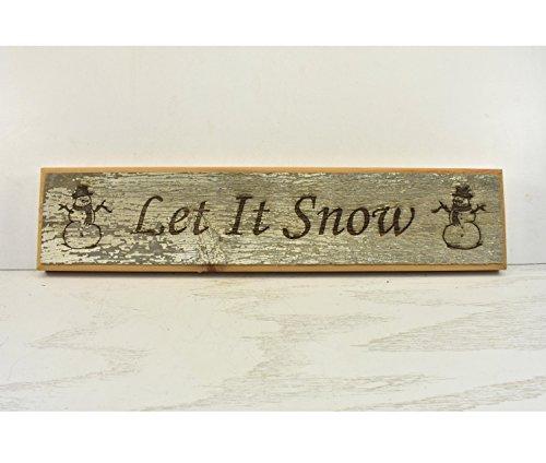 Norma Lelie Laat Het Sneeuw Plaque hout Teken Deur Topper