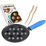 electric abelskiver pan - Cast Iron Aebleskiver Pan for Danish Stuffed Pancake Balls by Upstreet (Blue)