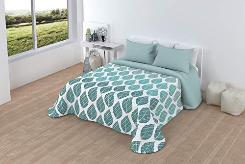 LINIVA HOME Comforter Sherpa 2-teilig Luciana (90, 105, 135, 150, 180) (Aqua, Bett 180)