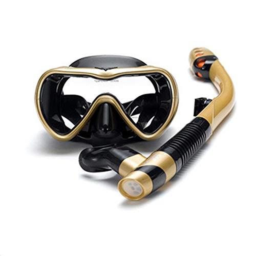xiaokeai Adulto Completo máscara de Snorkel en seco Anti-estrangulador esnórquel máscara de Buceo Gafas de Natación Conjunto Masculino y Femenino Equipo de Snorkel (Color : A10)