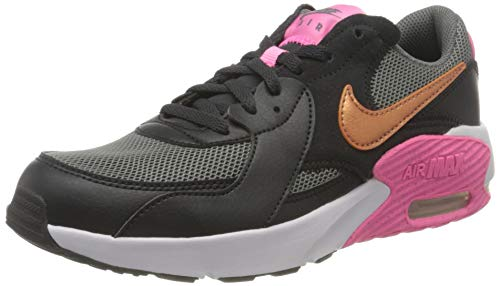 Nike AIR MAX EXCEE (GS) Running Shoe, Off Noir/METALLIC Copper-Smoke Grey, 39 EU