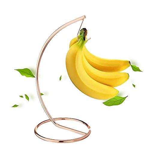 WM-Fruit Plate Fruit Basket,Banana Tree Hanger Stainless Steel Banana Hanging Bracket Flat Wire Banana Holder Tree Stand/B Copper