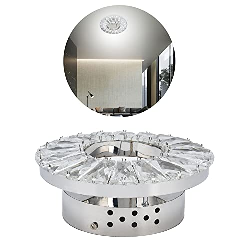 Aplique de Pared, luz de detección automática Aplique de Pared Interior 2000LM Pantalla de Cristal poliédrico para decoración de Casas para restaurantes Pasillos Pasillos