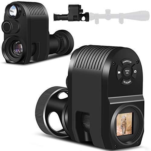"""Monocular de visión nocturna, Alcance de Rifle de visión Nocturnacámara de infrarrojos digital HD con LCD TFT de 1,29"""" , 300m/984 pies de distancia de detección Con lente objetivo de 25 mm"""