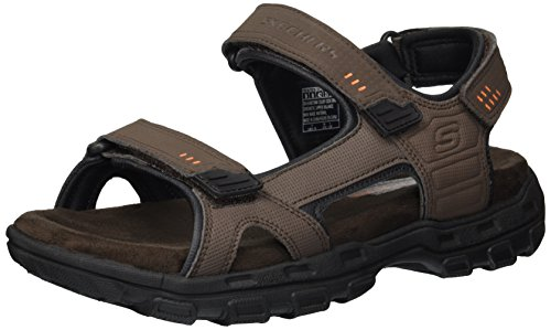 Skechers USA Men's Louden Sandal, Brown, 12 M US
