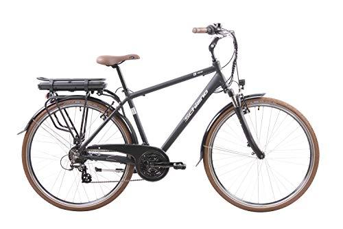 F.lli Schiano E- Ride, Bicicletta elettrica Uomo, Nera, 28