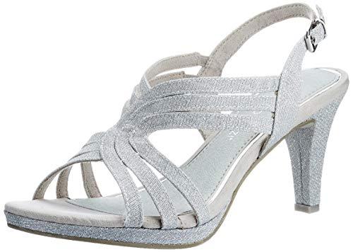 MARCO TOZZI 2-2-28329-26 Damen Sandale, Sandalia con taln Mujer