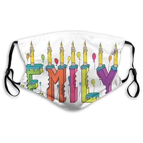 Mond Ma-sk, cartoon dodle verjaardagstaart met vrolijke gebeurtenissen, gevuld met ballon, geprinte gezichtdecoraties met filter voor volwassenen en kinderen