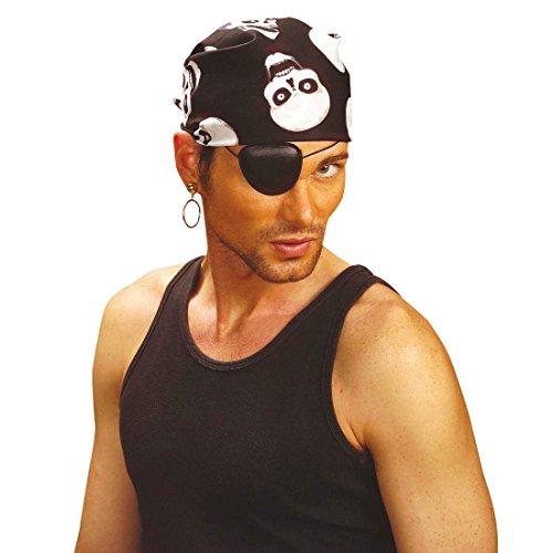 NET TOYS Foulard de Pirate Bandana Pirates Foulard Pirate Corsaire tête écharpe Flibustier Rocker Biker Carnaval