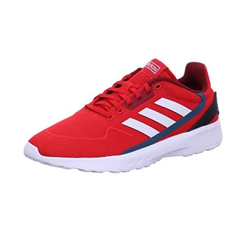 Adidas NEBZED, Zapatillas Running Hombre, Rojo (Scarlet/FTWR White/Collegiate Burgundy), 44 EU