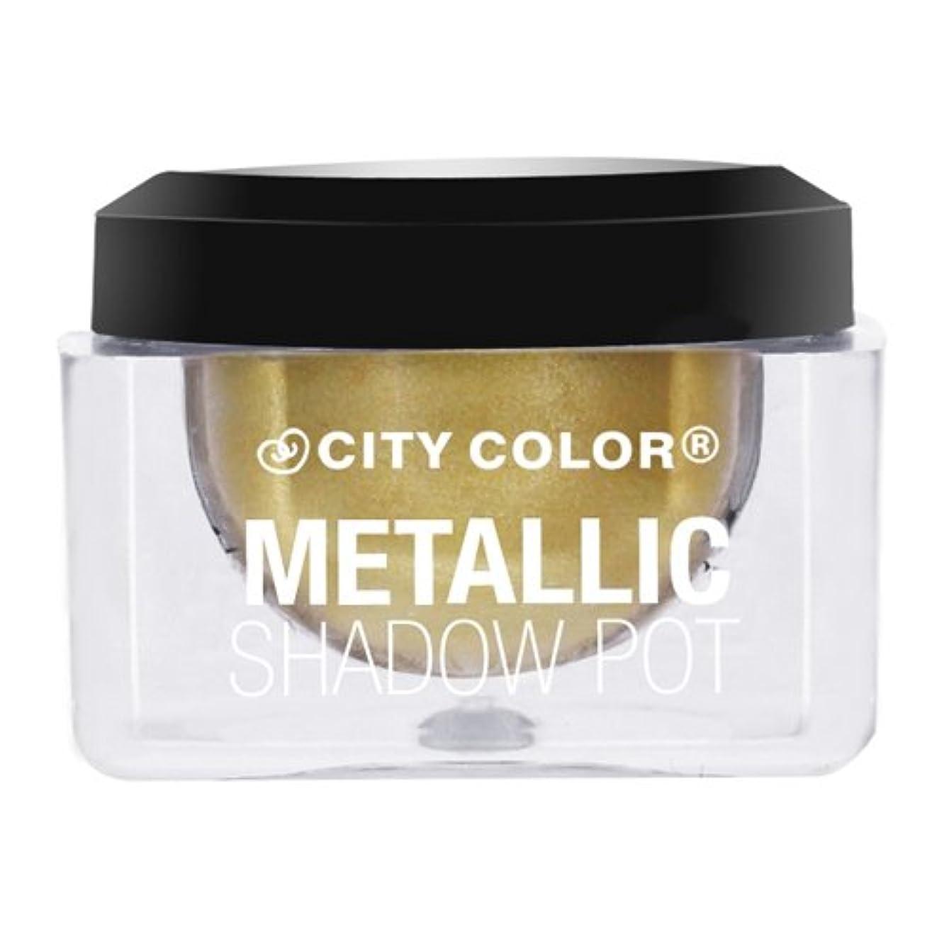 ボイド深くおとなしい(3 Pack) CITY COLOR Metallic Shadow Pot - Shooting Star (並行輸入品)