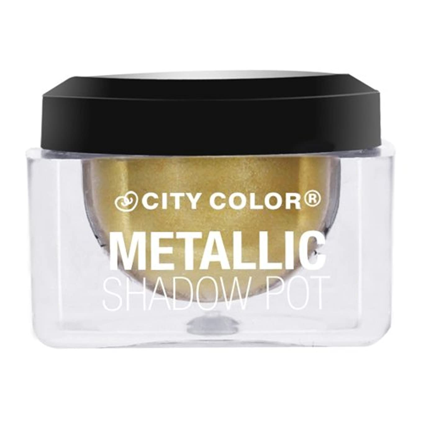 謎繁雑も(6 Pack) CITY COLOR Metallic Shadow Pot - Shooting Star (並行輸入品)