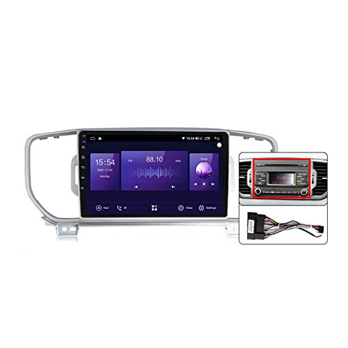 Gokiu Android 10 Car Radio de Navegación GPS para KIA Sportage 4 KX5 2016-2019 con 9 Pulgada Pantalla Táctil Support FM Am RDS DSP/MP5 Player/BT Steering Wheel Control/Carplay,Plug a,7862: 4+64GB