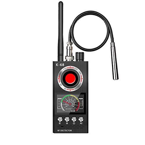 Rilevatore di Microspie Rivelatore Anti-Monitor Multifunzione Camera gsm Audio Bug Finder Rilevatore di Rilevamento Magnetico RF con Lente di Segnale GPS WiFi Finder