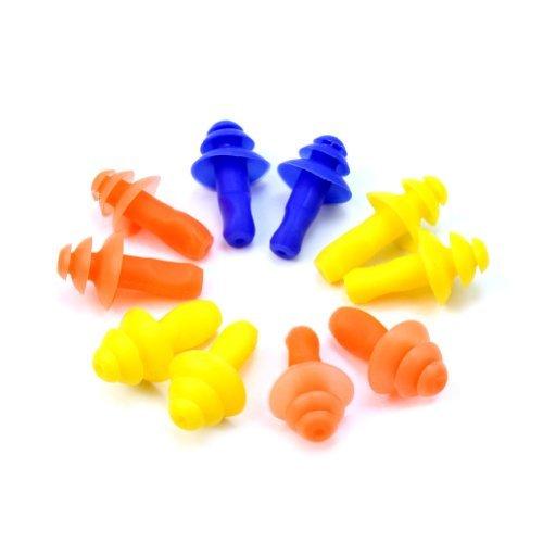 Pinzhi - Tappi per le orecchie in silicone, impermeabili, per nuotatori, 5 paia