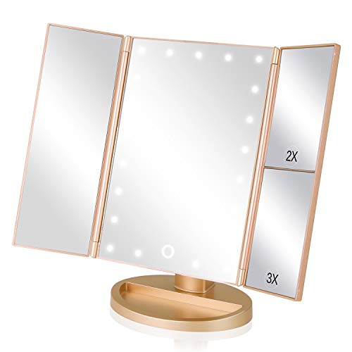 Product Image of the EASEHOLD Makeup Mirror with Lights 21 LEDs Lighted Vanity Mirror 2X 3X...