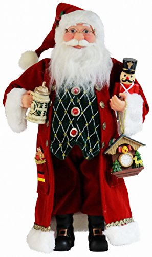 "16"" Inch Standing German Cuckoo Clock Santa Claus Christmas Figurine Figure Decoration 167090"