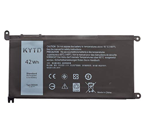 KYTD Dell Battery WDXOR 42Whr 4-cell 11.4V for Dell Inspiron 13 5368 5378 7368 7378, Inspiron 15 5565 5567 5568 5578 7560 7570 7579 7569 P58F and Inspiron 17 5765 5767 (Type WDX0R)