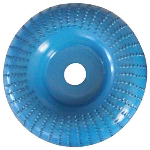 KunmniZ Round Faceted Edge-arc Grinding Disc Wheel Sanding Power Wood ving Rotary,Blue