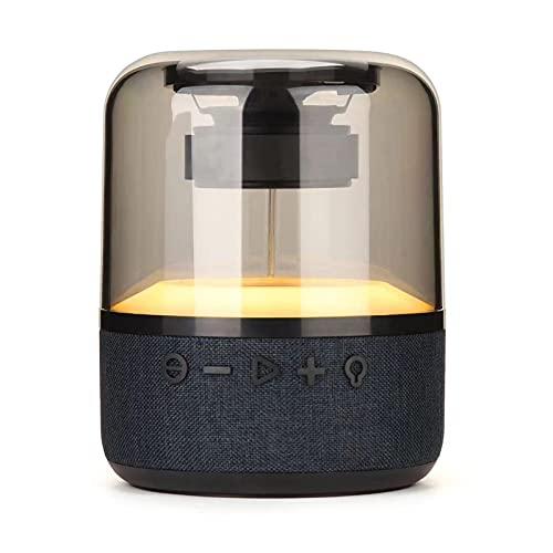 ZEIYUQI Altavoz Bluetooth Crystal Glass Altavoz Bluetooth Inalámbrico,Sonido Bajo Luz Ambiental RGB Cambios de Color Entretenimiento,Escuchar Música,Ver Películas,Jugar Juegos