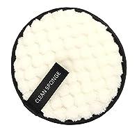 全3色 フェイス ウォッシュ パッド 通気性 高品質 直径12cm ハングストリング付き - ホワイト