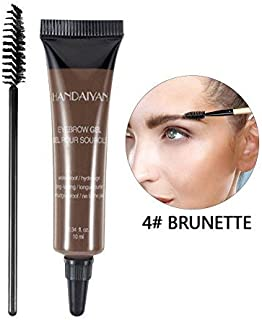 Eyebrow Dye Cream, Professional Eyebrow Gel Waterproof Eyebrow Dye Eyebrow Gel Tint Eyebrow Brush(04#)