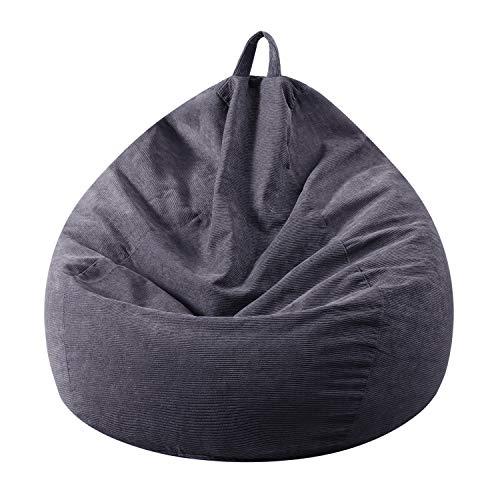 Funda para silla de puf (no relleno), extra grande, almacenamiento de animales de peluche y espuma viscoelástica, lavable de pana...