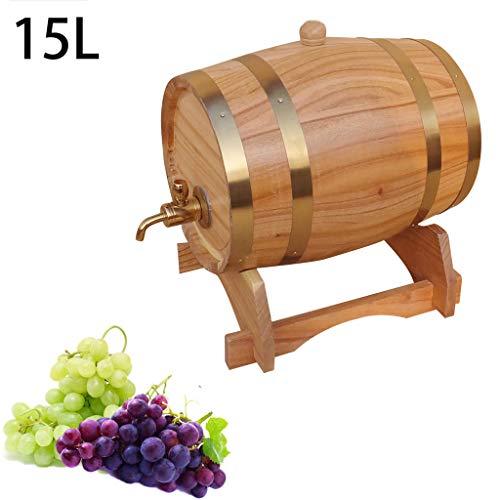 RHSMP eiken vat Whiskey vaten honing Dispenser woonkamer wijn vat keuken drank container opslag vat met metalen kraan 15L