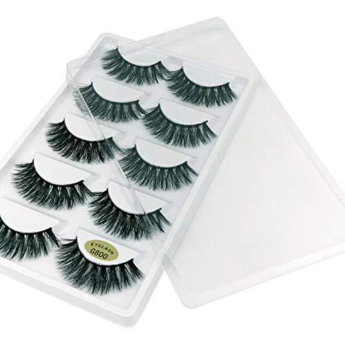 Silverdee 5 Paar 3D mehrschichtige Nerz falsche Wimpern gefälschte Wimpern natürliche Dicke Wimpern falsche Wimpern Make-up Extension - schwarz
