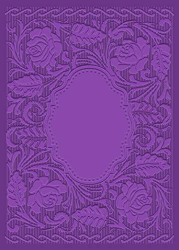 Crafter's Companion GEM-EF5-3D-EROSE Gemini 3D-Embossing Folder 12,7 x 17,8 cm Englisch English Rose, Plastic, 5' x 7'