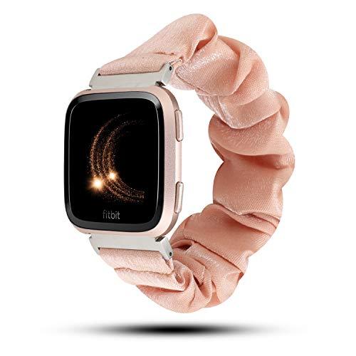WONMILLE Haargummi-Armbänder, kompatibel mit Fitbit Versa/Versa 2/Versa Lite, niedlicher Stoff,...