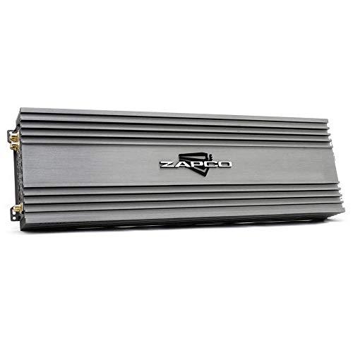 ZAPCO Z-150.4 II - Amplificador de 6 canales (990 W, clase A/B, 6 x 165 W (2Ω), 6 x 275 W (4Ω), 3 x 550 W (4Ω puenteado) RMS 0-12 dB Bass Boost, circuito de protección de 4 vías, silenciador de frecuencia electrónico.