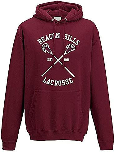 Donna Uomo Autunno Inverno Moda Felpa con Cappuccio Beacon Hills Lacrosse Manica Lunga Hooded Hoodies Sweatshirt Pullover Tops