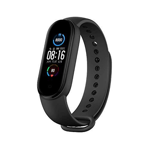 Xiaomi Mi Band 5 Global Armband mit Herzfrequenz-Fitness-Musik Bluetooth 5.0-Schrittzähler- und Messaging-Benachrichtigungen und 50M-Wasserdichtfunktion für Android und iOS Systeme
