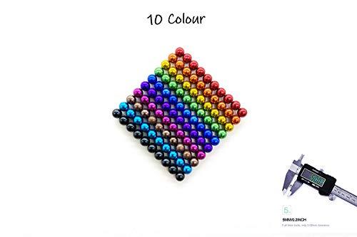 Luckyrao VIELE Farben: 100 Magnetkugeln 5mm Neodymmagnet Supermagnet Instudriemagnet: NdFeb 38 (10 Colour)