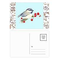 鳥の動物のカササギgrayhead 公式ポストカードセットサンクスカード郵送側20個