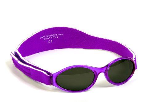 BabyBanz aby Banz Baby Geschenkpack -Sonnenbrille mit Brillenetui Nilpferd rosa, 0-2 jAHREViolett