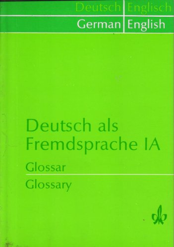 German As A Foreign Language Ia Glossary (Pb 2020)
