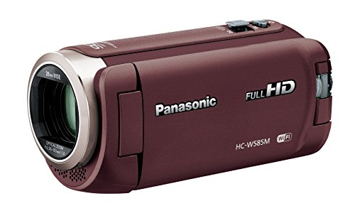 Panasonic HDビデオカメラ W585M 64GB ワイプ撮り 高倍率90倍ズーム ブラウン HC-W585M-T