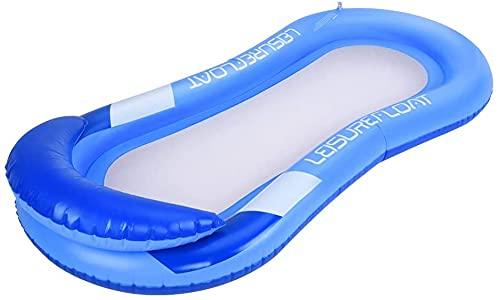 Hamaca flotante de agua, rieles de playa hinchables para exteriores de verano, rieles de tumbona de piscina de flotador de muelles, cama flotante de piscina, sofá de agua
