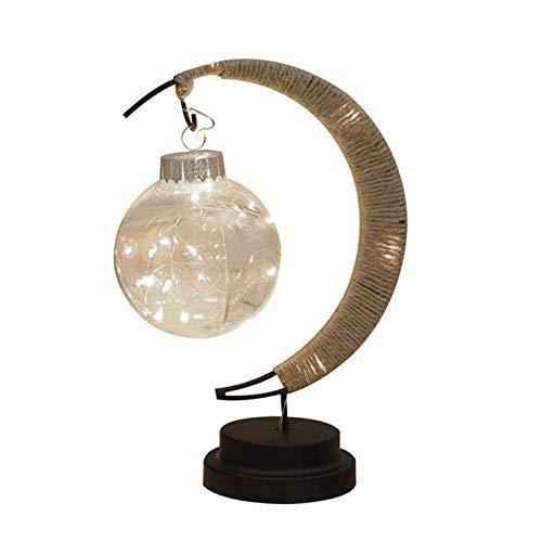 AMAZING1 Lámpara LED de luna, para mesa de escritorio, funciona con pilas, ideal como regalo conmemorativo, pérdida de mascotas, regalo de cumpleaños, hogar, sala de estar, dormitorio, decoración