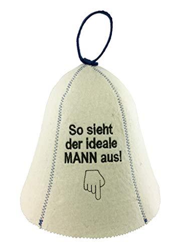 GMMH® Saunahut Saunakappe Filzkappe 100% Baumwolle Sauna (SS20-19)